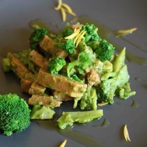 Seitan con Broccoli