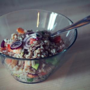 Barley and spelt salad