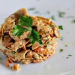Tagliatelle di Crespelle con funghi e pancetta