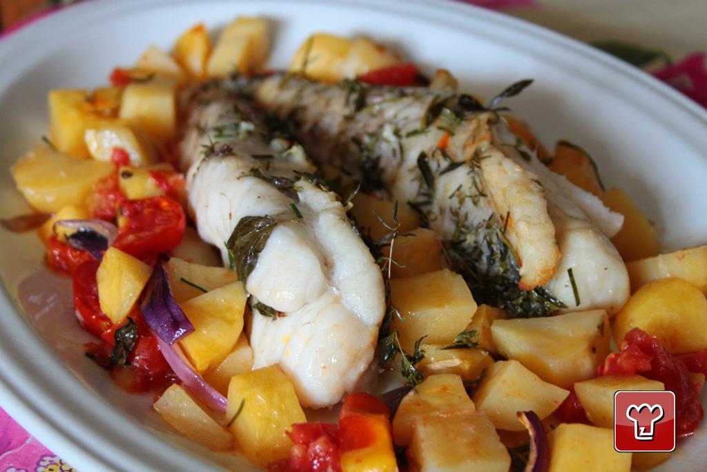 coda di rospo al forno - My Italian Recipes